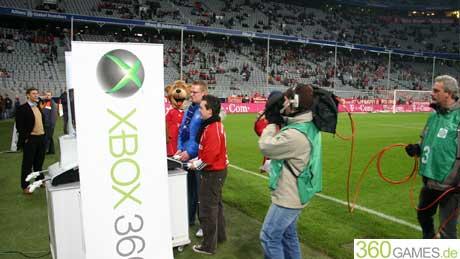 XBox 360 in der Allianz Arena